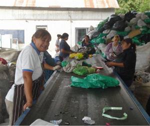 La planta de clasificación y reciclado de la Cooperativa Creando Conciencia