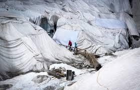 Glaciar con mantas